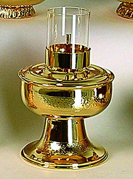 Lucerna con base e vetro trasparente
