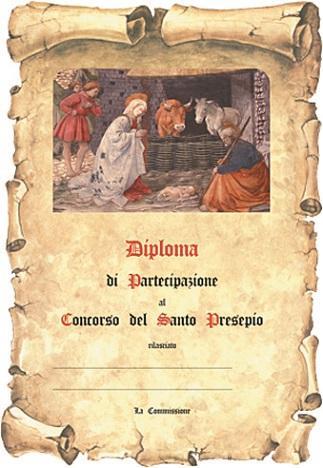 Pergamena Santo Presepio con oro