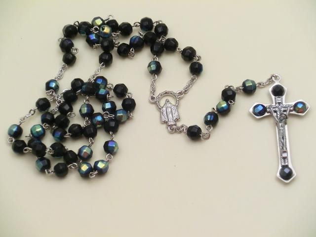 Rosario mezzo cristallo 4 perle