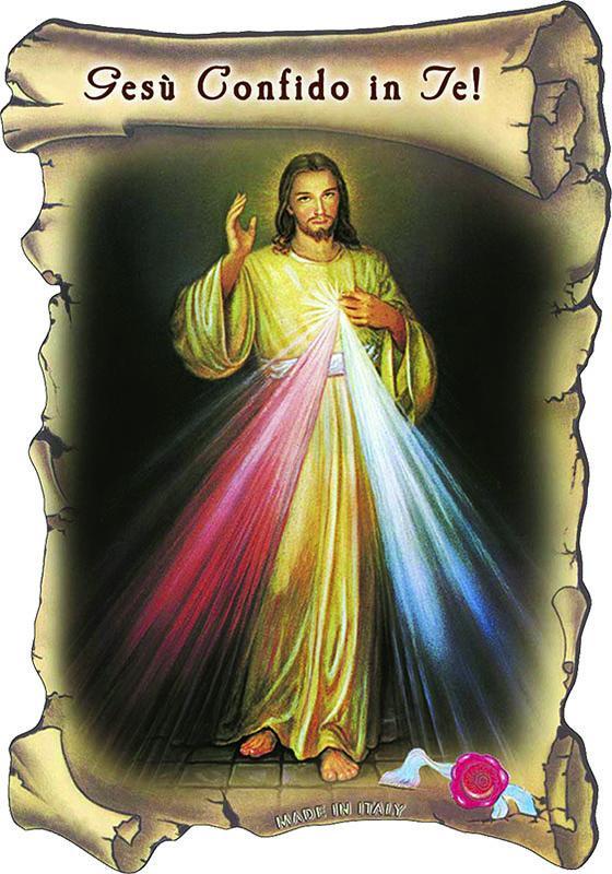 Tavoletta legno Gesù Misericordioso