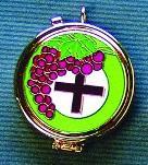 Teca smaltata uva-croce