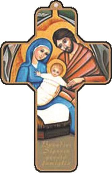 Croce Natività in legno