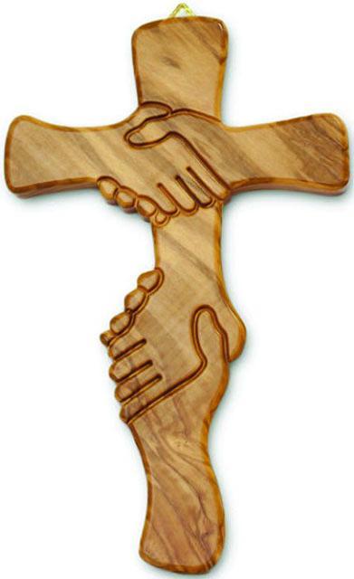 Croce ulivo amicizia cm. 28