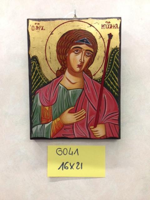 Icona greca San Michele dipinta