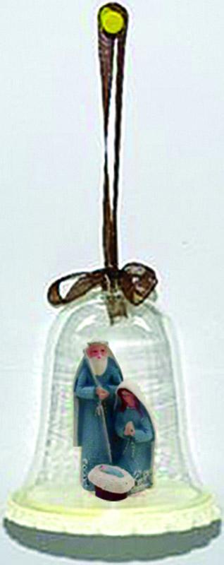 Natività celeste in campana vetro cm. 8