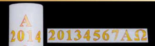 Set adesivi alfa omega anno