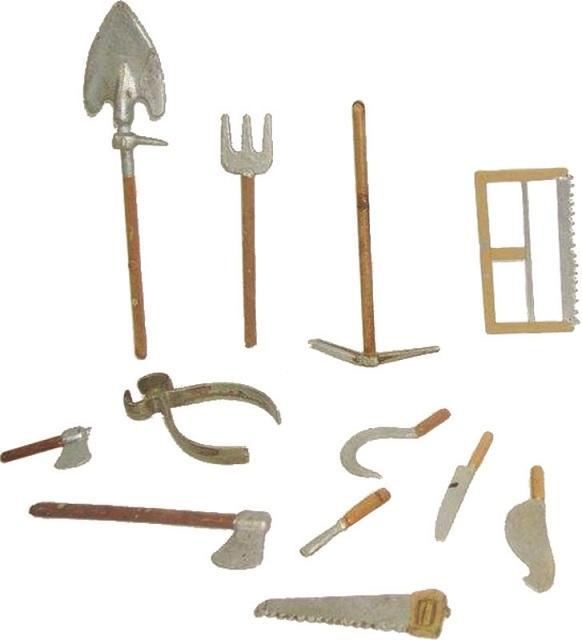 Set 12 pezzi mini attrezzi da lavoro