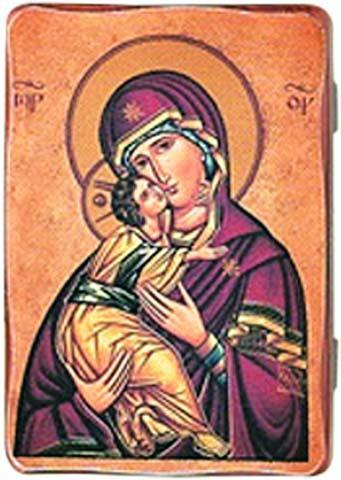 Icona Madonna con Bimbo tela su legno