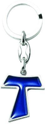 Portachiavi Croce Tau blu
