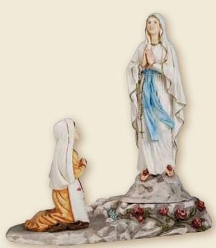 Apparizione Lourdes resina cm. 20