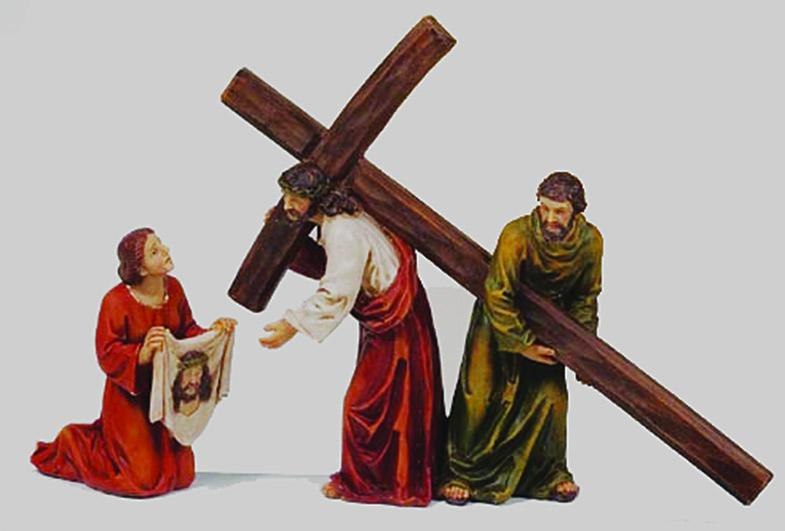 Gesù e la Veronica cm. 16