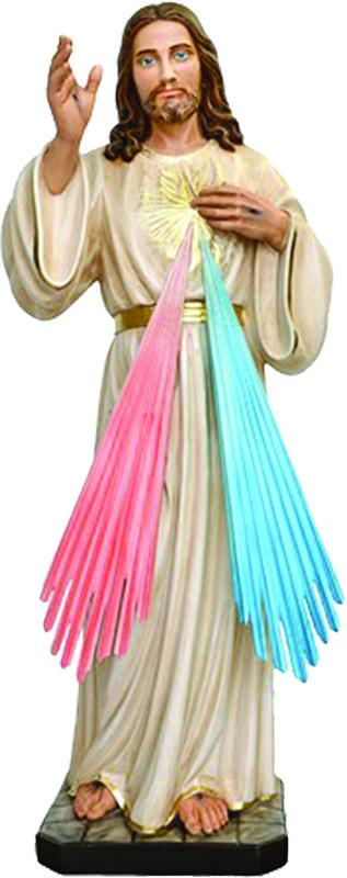 Gesù Misericordioso resina cm. 100