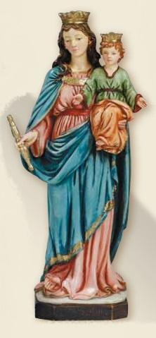 Madonna Ausiliatrice in resina cm. 23