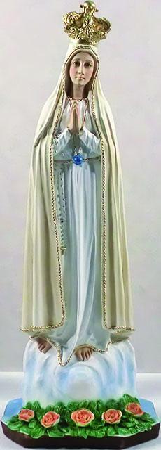 Madonna di Fatima resina cm. 65