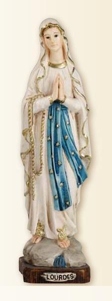Madonna di Lourdes in resina cm. 30