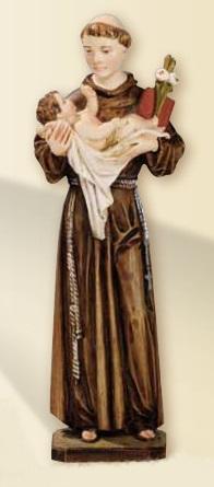 S. Antonio da Padova in resina cm. 22
