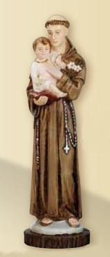 S. Antonio da Padova in resina cm. 25