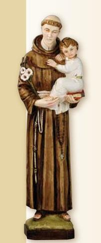 S. Antonio da Padova in resina cm. 33