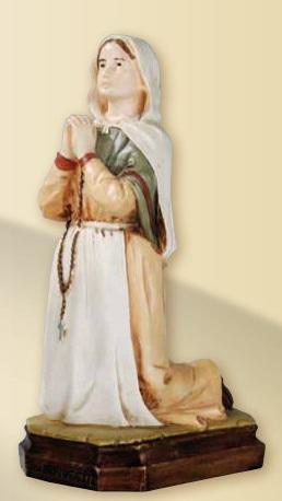 S. Bernardette in resina cm. 20