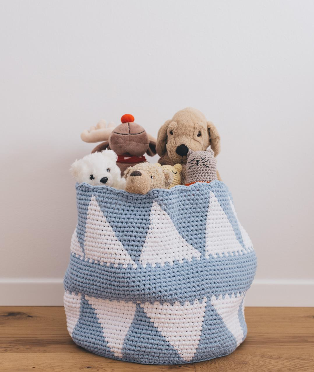 Homeware - CottonHomeware - Cotton - HAPPY TOYS BASKET - 1
