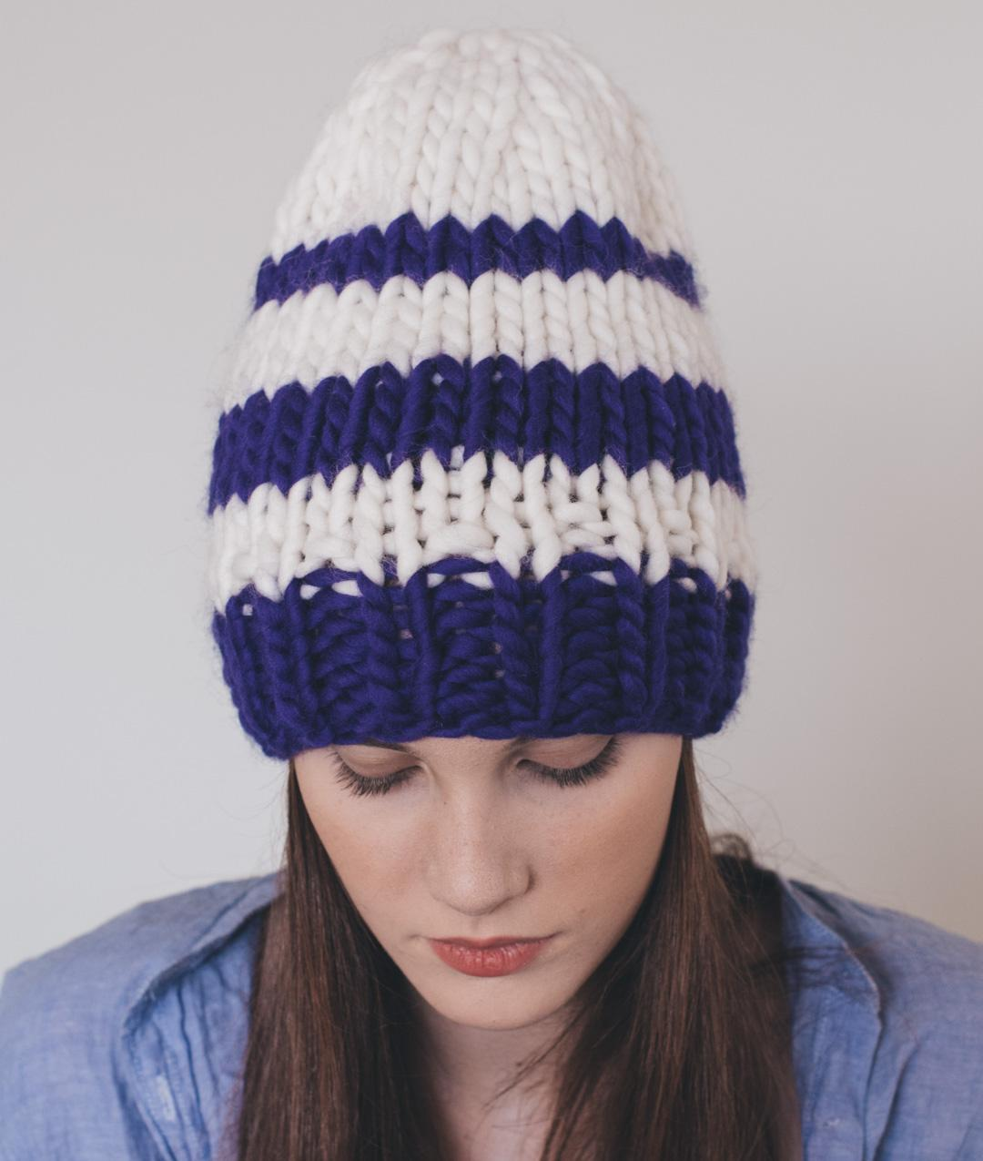 Hats and Beanies - Wool - Striped Beanie - 1