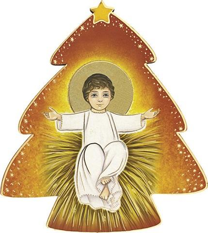 Immagine in pvc alberello Gesù Bambino