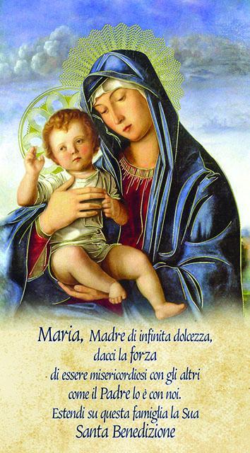 Madonna con Bambino 12x22 oro (100 pz)