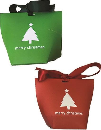 Sacchettino in cartoncino natalizio