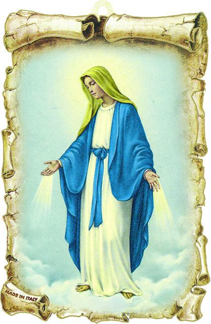 Tavoletta legno Madonna Immacolata