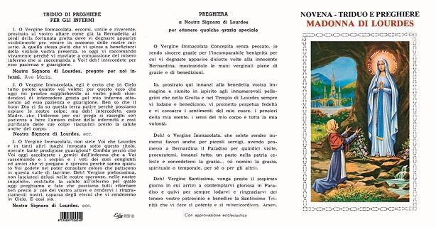 Novena, Triduo e preghiere Madonna di Lourdes (100 pz)