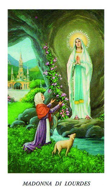 Immaginetta Madonna di Lourdes (100 pz)