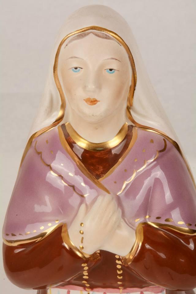 Statua Santa Bernadette in Ceramica LAGIA36 h. 36