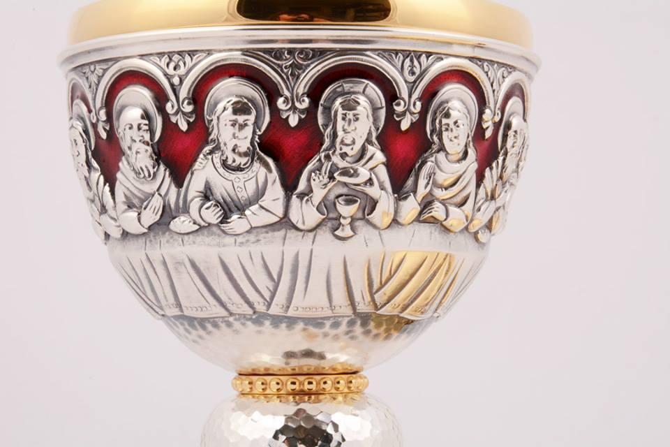 Calice coppa argento con patena MOLACE2658