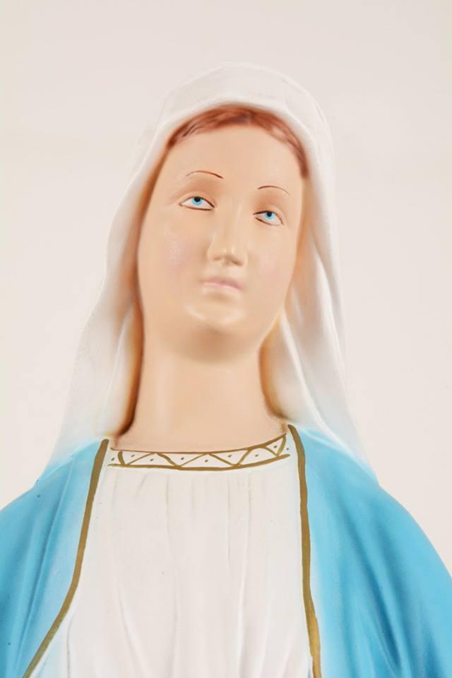 Statua Madonna Miracolosa in gomma FA80 h. 80