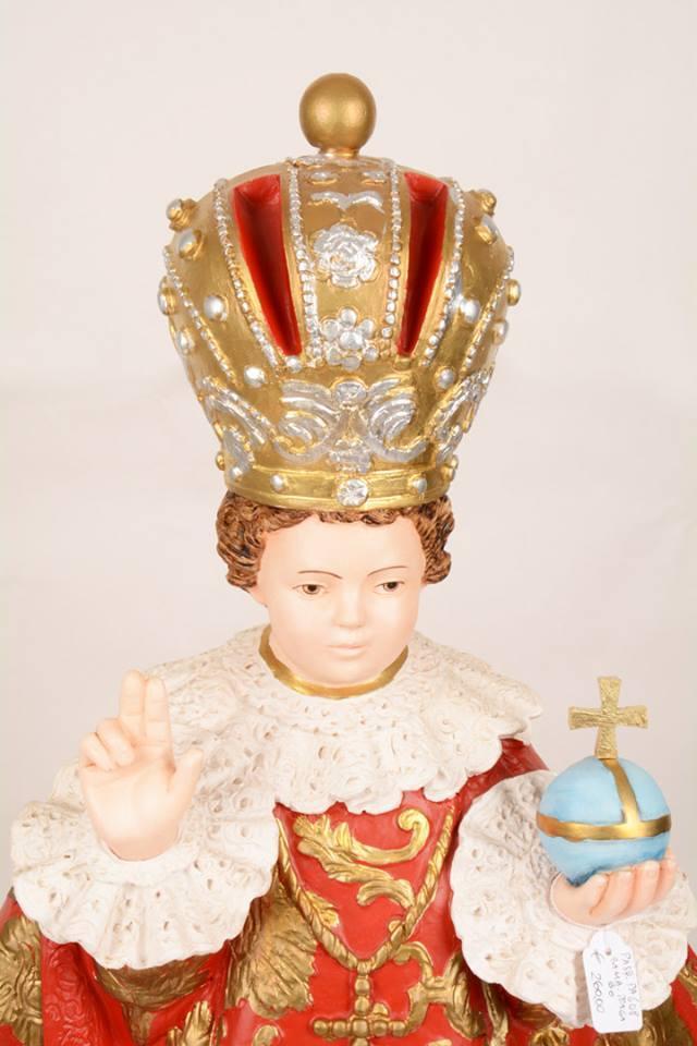 Statua Bambino Gesù di Praga in resina h. 70 PASQPA608