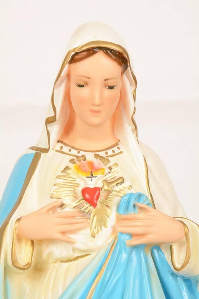 Statua Sacro Cuore di Maria in gesso LUCUDSC50 h. 50