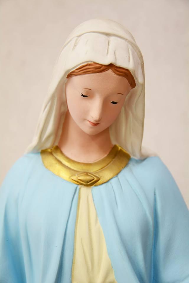 Statua Madonna Miracolosa in gesso h. 65