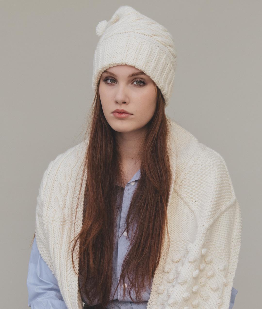 Scarves and Snoods - WoolScarves and Snoods - Wool - Love Grammar Scarf & Hat - 1