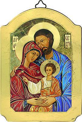 Icona a cupola Sacra Famiglia cm. 15X20