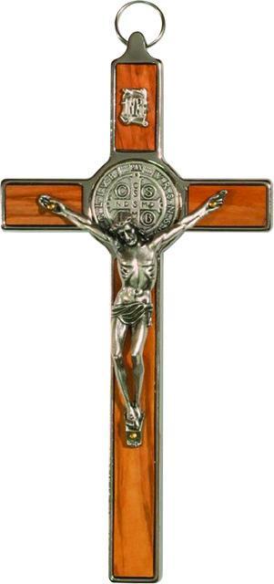 Croce metallo e ulivo S. Benedetto