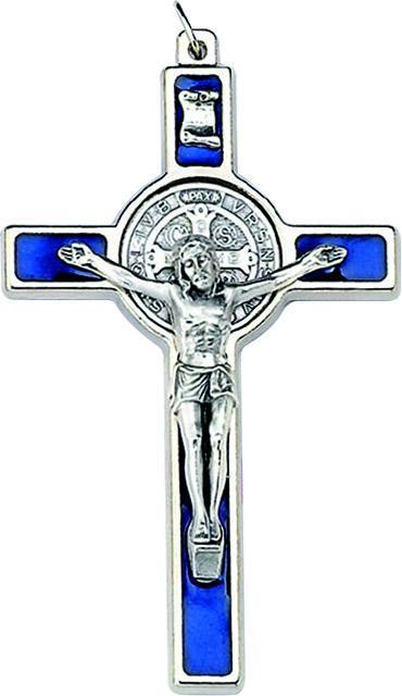 Croce metallo S. Benedetto cm. 7,5