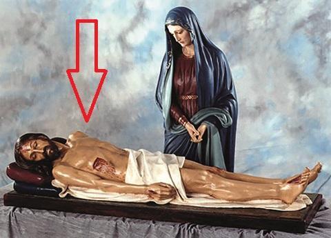 Gesù morto cm. 160