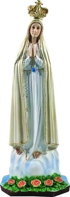 Madonna di Fatima resina cm. 90