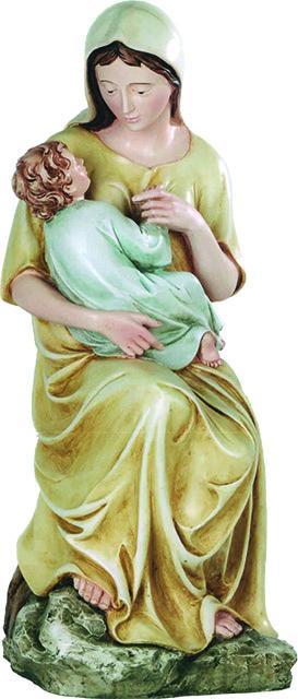 Madonna seduta con Bambino in resina cm. 52