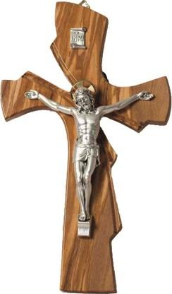 Croce ulivo corpo metallo cm. 21