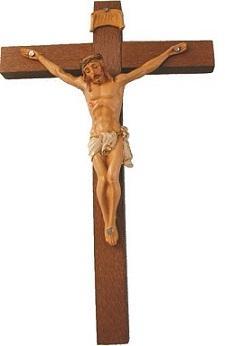 Croce legno corpo pvc cm. 18