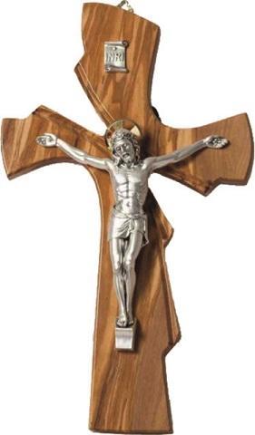 Croce ulivo corpo metallo cm. 28