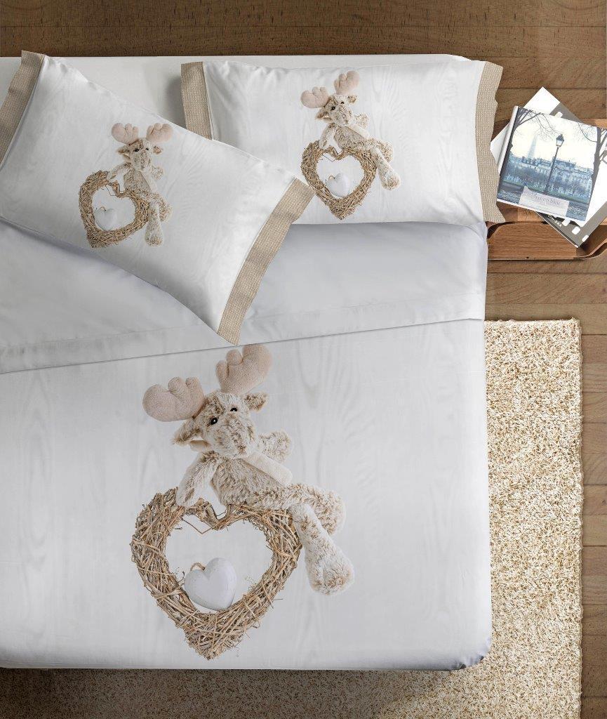 Lenzuola Matrimoniali In 3d.Set Lenzuola Stampa Digitale 3d Renna Per Amico Alta Definizione