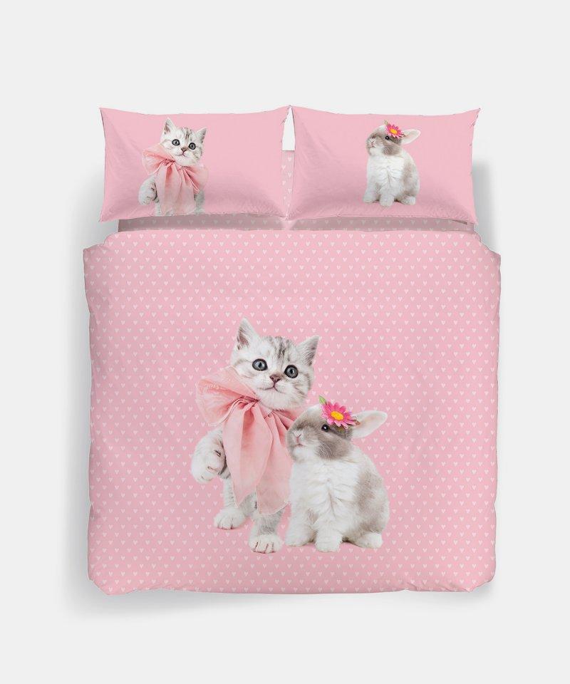 Copripiumino Matrimoniale Rosa.Completo Copripiumino Caleffi 2piazze Matrimoniale Studio Pets