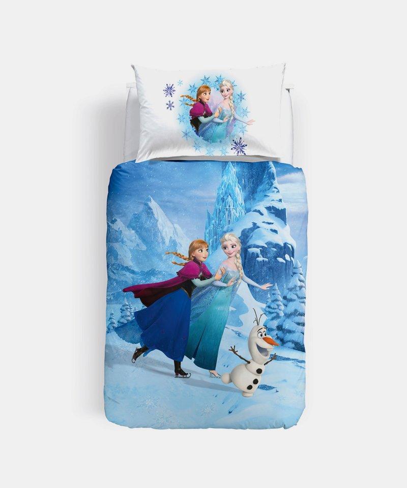 Completo Copripiumino Caleffi Disney.Parure Copripiumino Frozen Elegance Caleffi Letto Singolo Disney Stampa Digitale